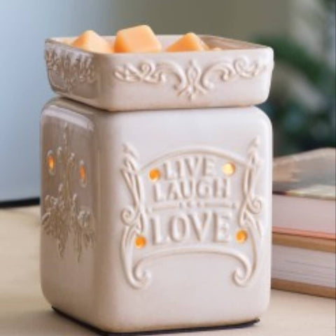 Live Love Laugh Ceramic Electric Wax Burner - Candles Sniffs & Gifts
