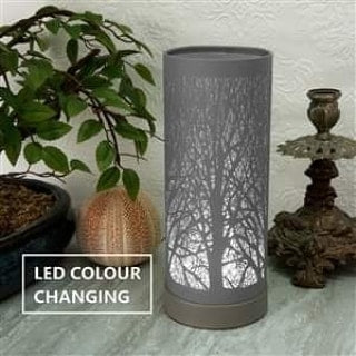 Grey Colour Changing Tree Electric Hot Plate Burner - Candles Sniffs & Gifts