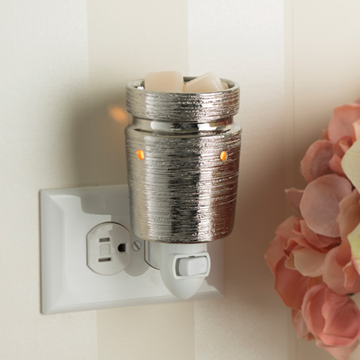 PRE ORDER Electric UK Plug In Mini Wax Melt Burner Brushed Chrome - Candles Sniffs & Gifts