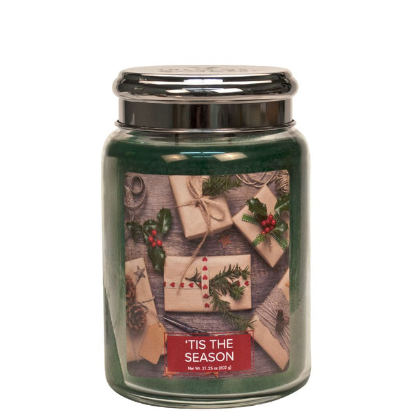 Tis The Season Christmas Large Village Candle - Candles Sniffs & Gifts