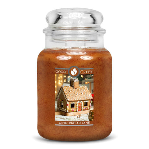 Gingerbread Lane Goose Creek Christmas 24oz Large Candle Jar - Candles Sniffs & Gifts