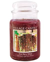 Limited Edition Village Candle Acai Berry Tobac Large Jar 26oz 1219g - Candles Sniffs & Gifts