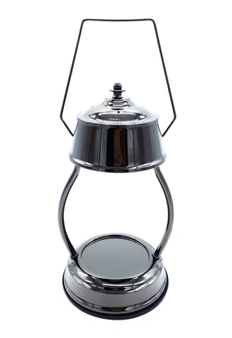 Black Chrome Electric Candle Warmer Lantern Lamp 35w - Candles Sniffs & Gifts