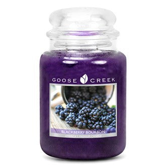Goose Creek Blackberry Bourbon 24oz Large Candle Jar - Candles Sniffs & Gifts