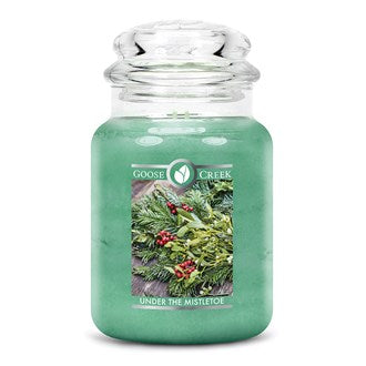 Christmas Under The Mistletoe Goose Creek 24oz Large Candle Jar - Candles Sniffs & Gifts