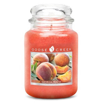 Georgia Peach Goose Creek 24oz Large Candle Jar - Candles Sniffs & Gifts