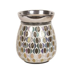 Gold And Silver Moon Electric Wax Melt Burner 14cm - Candles Sniffs & Gifts
