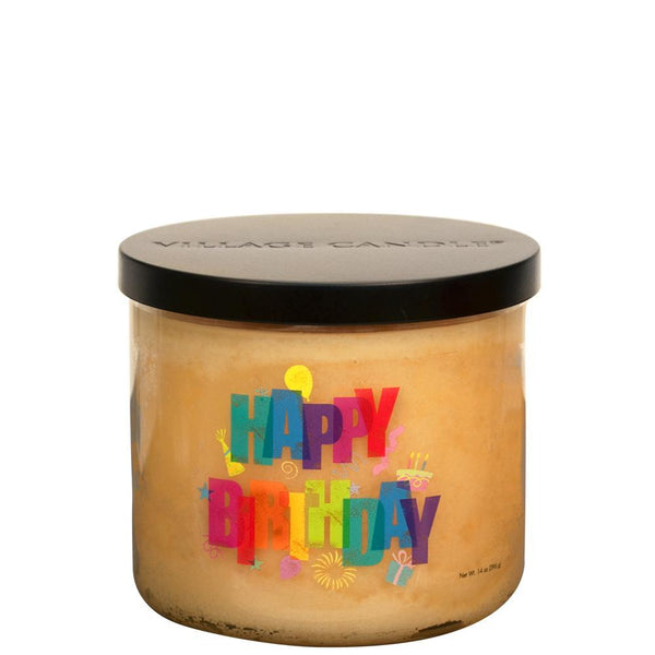 NEW Village Candle Happy Birthday Tumbler - Candles Sniffs & Gifts