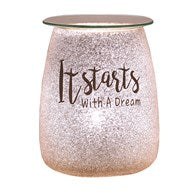Glitter Electric Burner It Starts With A Dream - Candles Sniffs & Gifts