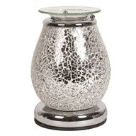 Touch Sensitive Electric Silver Mosaic Jupiter Burner - Candles Sniffs & Gifts