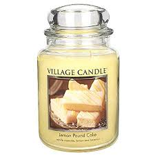 Lemon Pound Cake Village Candle Large Jar 26oz 1219g - Candles Sniffs & Gifts