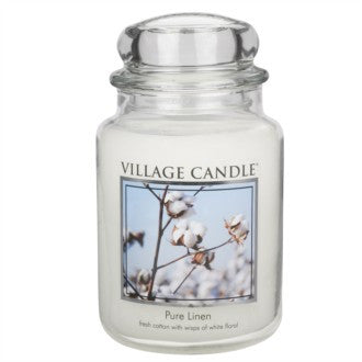 Village Candle Pure Linen Large Jar 26oz 1219g - Candles Sniffs & Gifts
