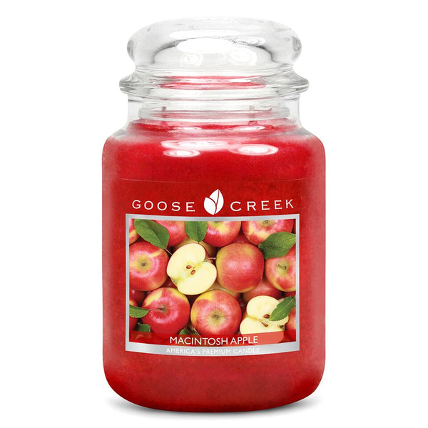 Macintosh Apple Goose Creek 24oz Large Candle Jar - Candles Sniffs & Gifts