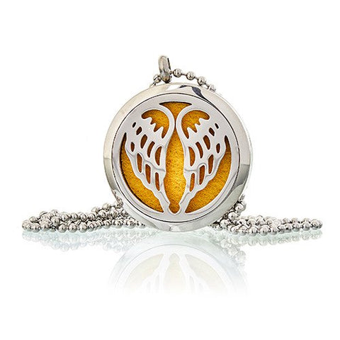 Aromatherapy Necklace Angel Wings 30mm - Candles Sniffs & Gifts