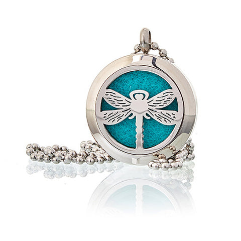 Aromatherapy Necklace Dragonfly 25mm - Candles Sniffs & Gifts