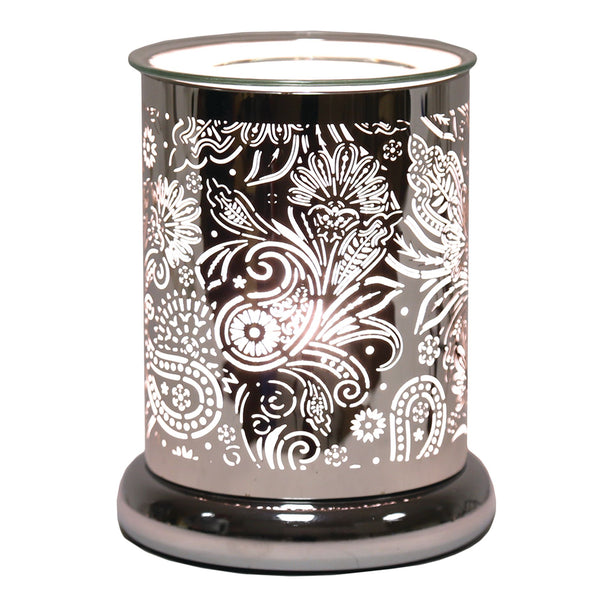 Paisley Silhouette Electric Wax Melt Burner - Candles Sniffs & Gifts