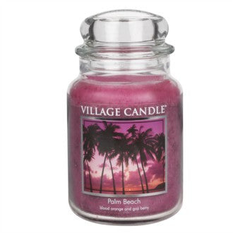 Village Candle Palm Beach Large Jar 26oz 1219g - Candles Sniffs & Gifts