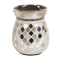 Pearl & Silver Electric Wax Melt Burner 14cm - Candles Sniffs & Gifts
