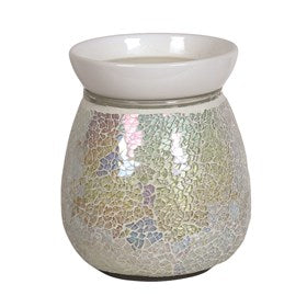 Pearl Crackle Electric Wax Melt Burner 14cm - Candles Sniffs & Gifts
