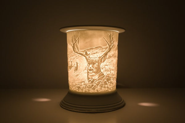 Ceramic Stag Electric Wax Burner - Candles Sniffs & Gifts