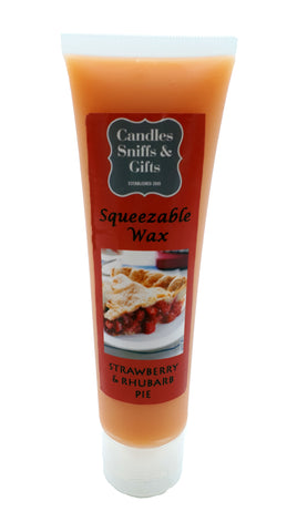 Strawberry & Rhubarb Pie Squeezable Wax - Candles Sniffs & Gifts