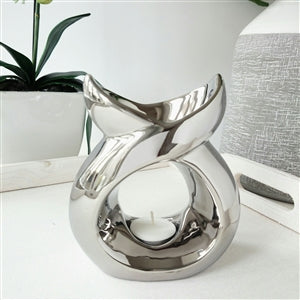 Chrome Serenity Tea Light Burner - Candles Sniffs & Gifts