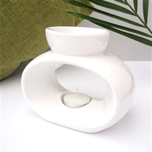 White Elegance Tea Light Burner - Candles Sniffs & Gifts