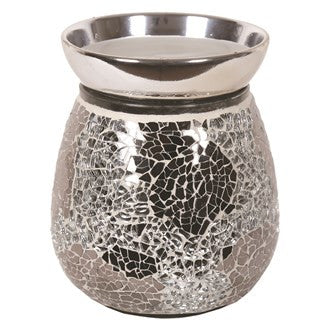 sold out silver mirror crackle electric wax melt burner 14cm