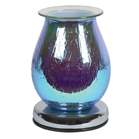 Blue Waterdrop Touch Sensitive Electric Wax Burner 40w 16cm - Candles Sniffs & Gifts