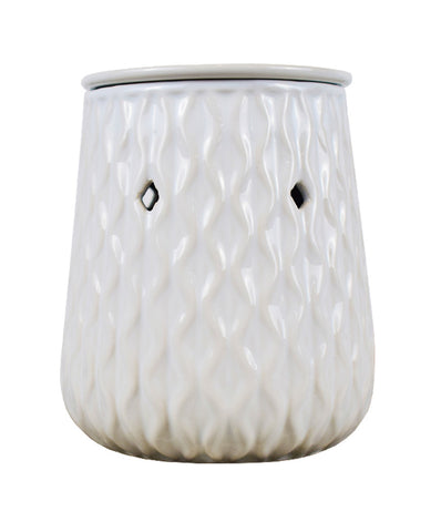 Wholesale Ceramic White Ripple Wax Melt Burner - Candles Sniffs & Gifts