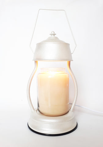 Wholesale White Glitter Candle Warmer Lamp 35w - Candles Sniffs & Gifts