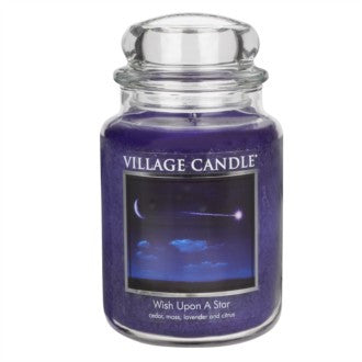 Village Candle Wish Upon A Star Large Jar 26oz 1219g - Candles Sniffs & Gifts