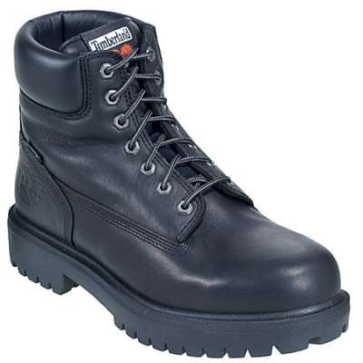 "Men`s Timberland Pro 6"" Black Insulated Waterproof Work Boots - 26036"