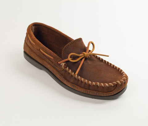 Minnetonka - DOUBLE BOTTOM HARDSOLE BROWN RUFF - 823