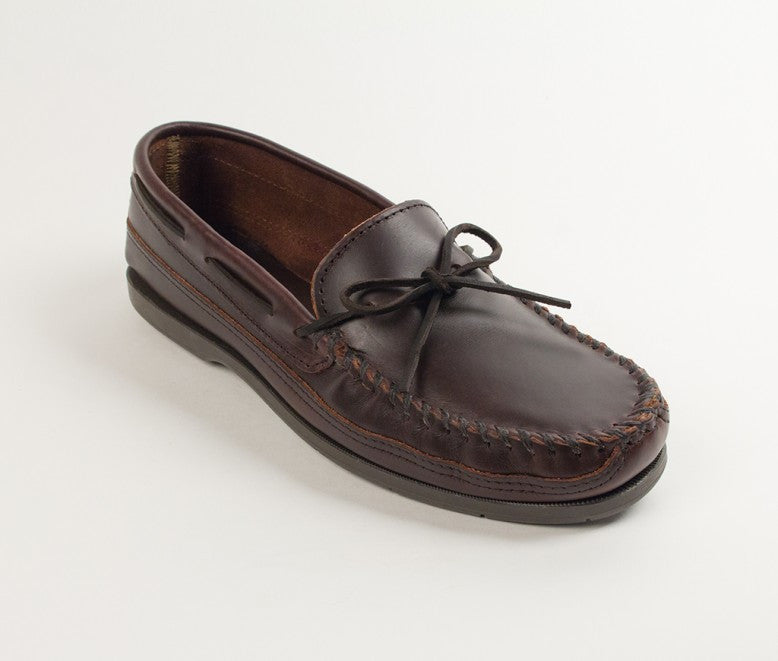 Minnetonka - DOUBLE BOTTOM HARDSOLE DARK BROWN - 768
