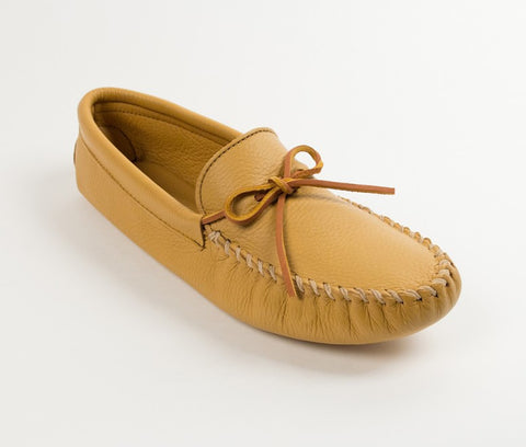 Minnetonka - DOUBLE DEERSKIN SOFTSOLE NATURAL - 816