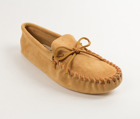 Minnetonka - LEATHER LACED SOFTSOLE TAN - 701
