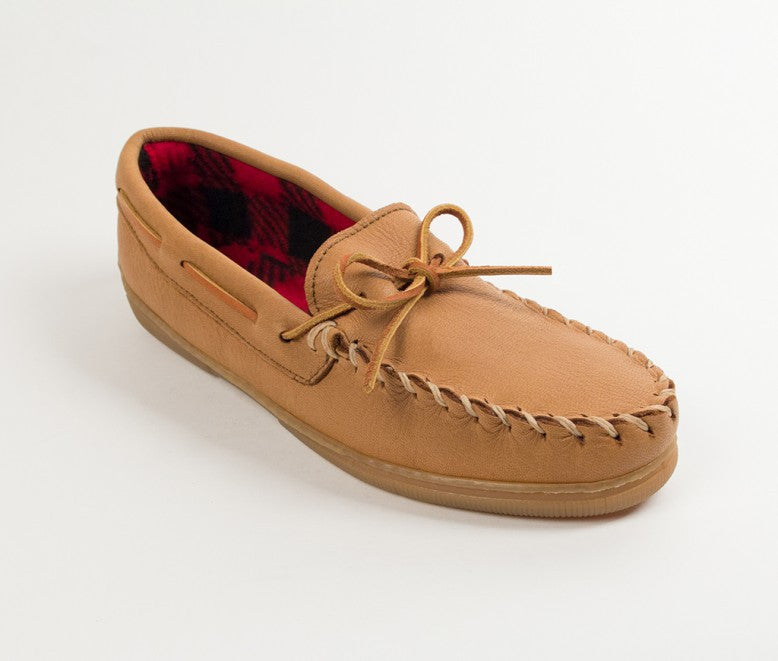 Minnetonka - MOOSEHIDE FLEECE MOC NATURAL - 3950