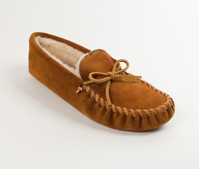 Minnetonka - PILE LINED SOFTSOLE BROWN - 763