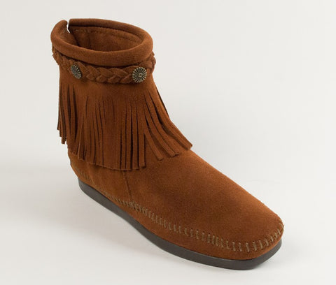 Minnetonka - HI TOP BACK ZIP BOOT BROWN - 292