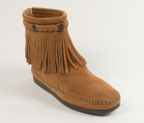 Minnetonka - HI TOP BACK ZIP BOOT TAUPE - 297T