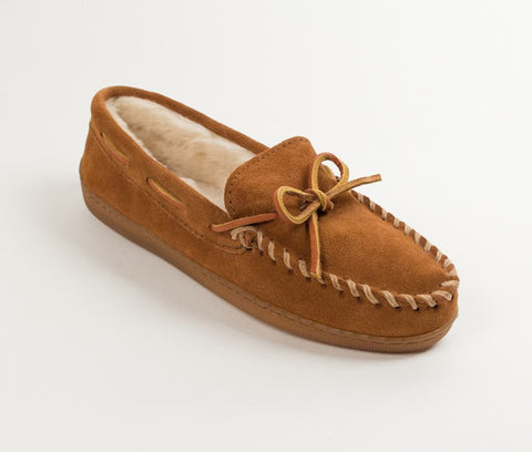 Minnetonka - PILE LINED HARDSOLE BROWN - 3502