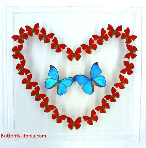 Red Heart Butterflies