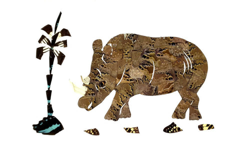 rhinoceros african art