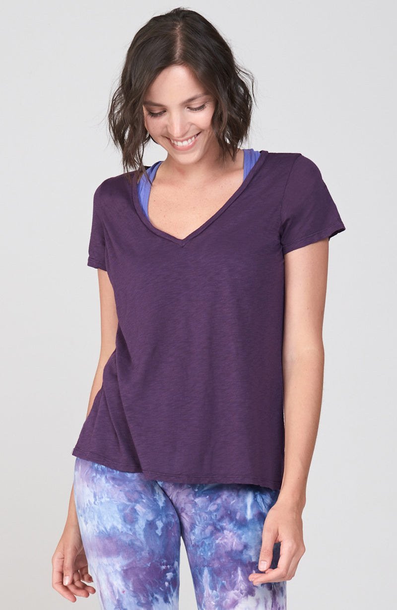 Mindful V-Tee Deep Purple