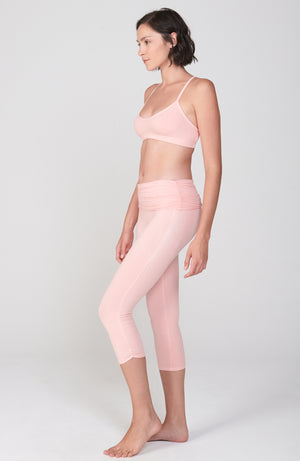 Ahimsa Capri in Peachy Pink