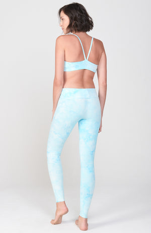 Sueded Hatha Legging in Glacier