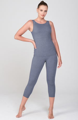 Asana Tank in Denim Muse