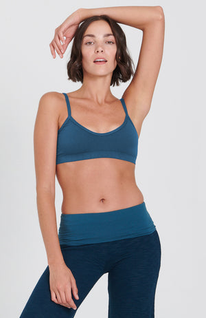 Asana Bra in Peacock
