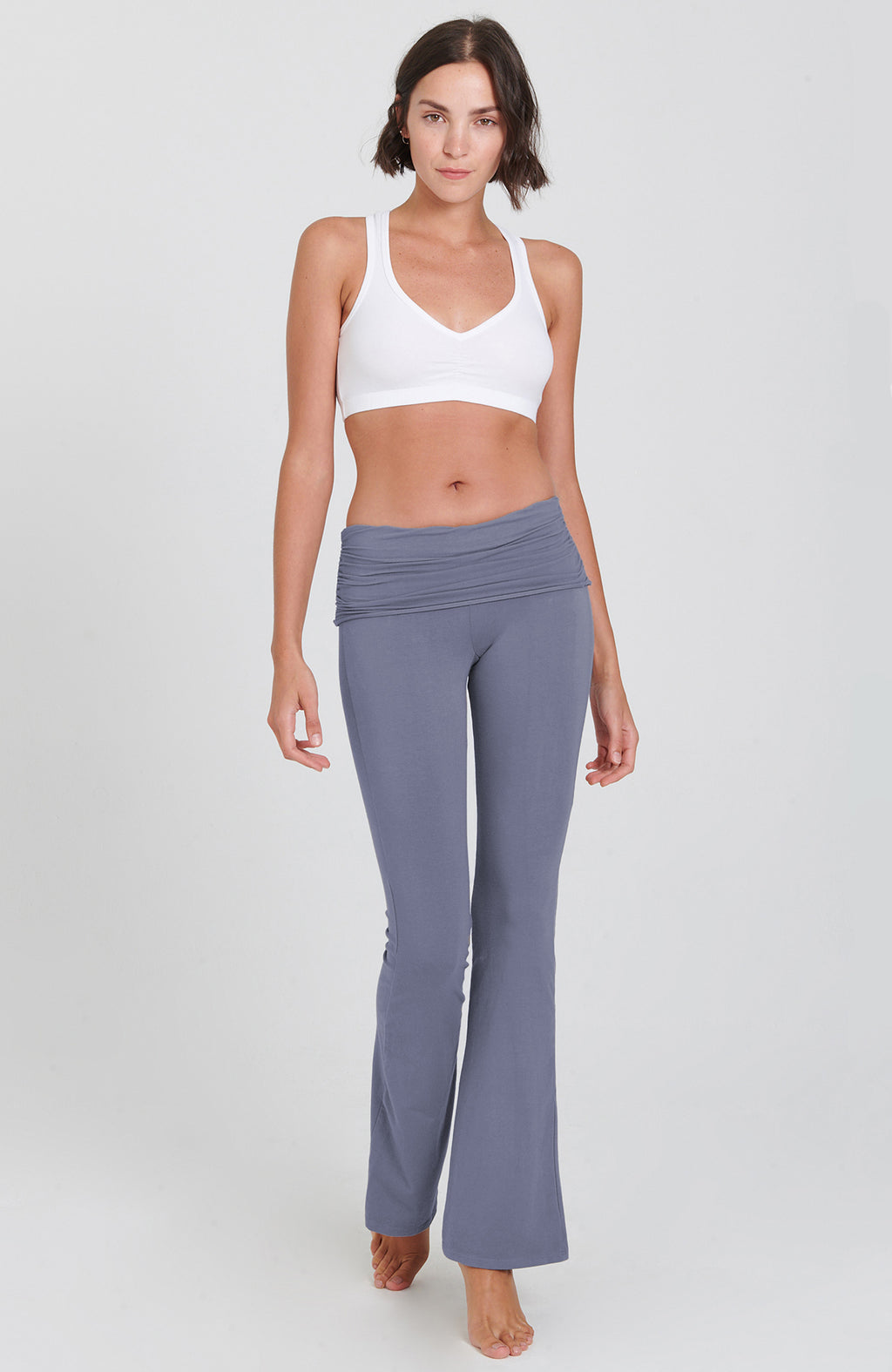 Bootcut Flare Practice Pant in Denim Muse